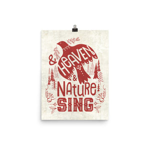 Heaven and Nature Sing Bird Art Poster Print