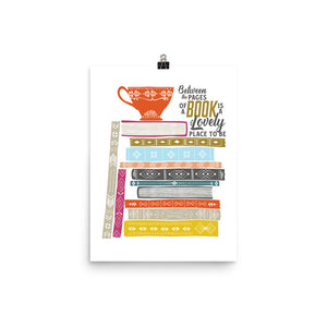 Book Stack / Book Lover Art Poster Print