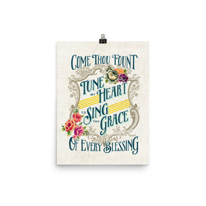 Come Thou Fount / Tune My Heart Art Poster Print