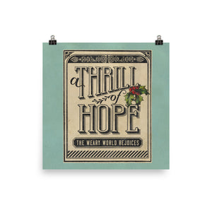 A Thrill of Hope Art Poster Print