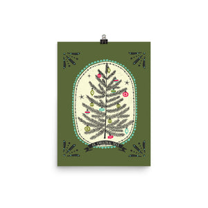 Oh Christmas Tree Art Poster Print
