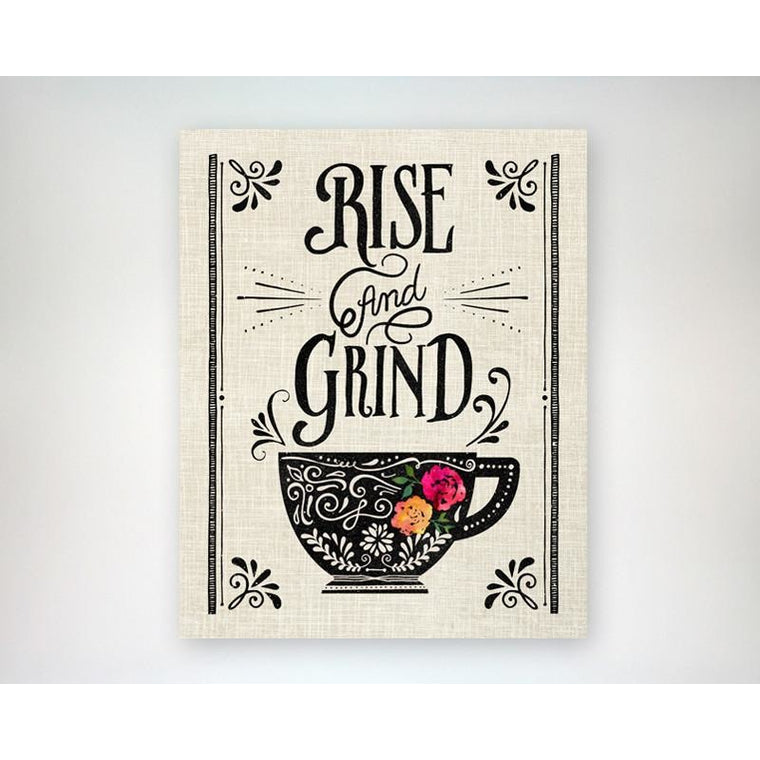 Rise & Grind/Rise & Steep - Coffee Lover/Tea Lover 8x10 art print