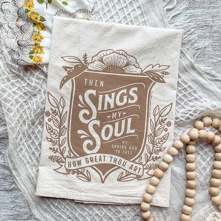 Then Sings my Soul/How Great Thou Art Tea Towel