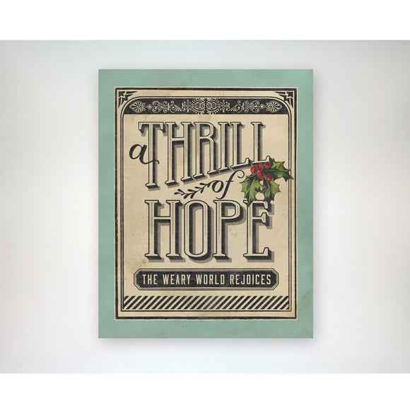 A Thrill of Hope 8x10 Christmas / Holiday art print