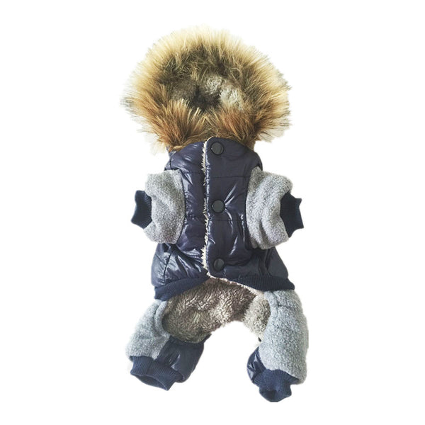 Thick warm Jacket Winter Dog Clothes Pet Coat Clothing Hooded Jumpsuit Warm Clothes For Dogs Coats - DogTrunk
