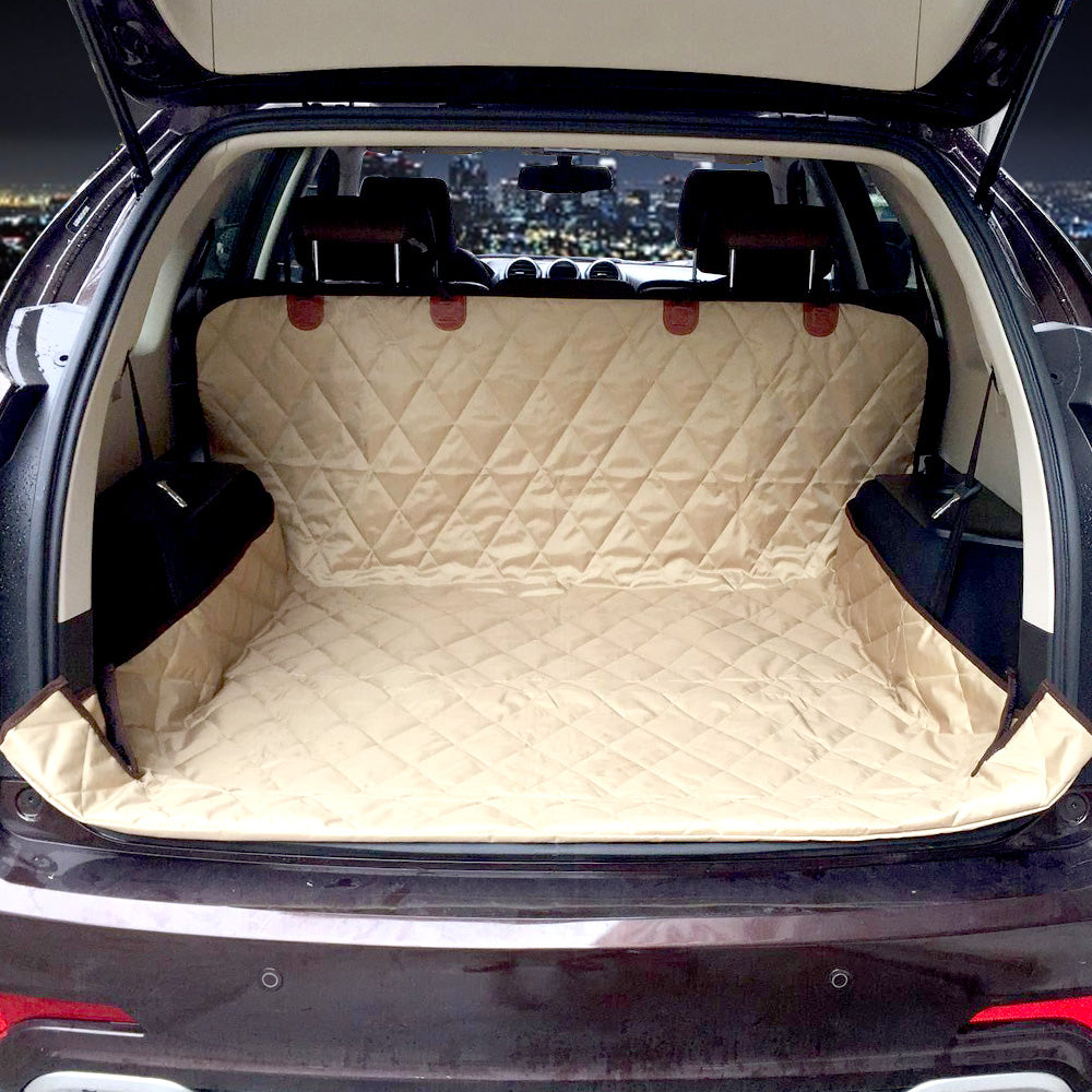 Dual Use Soft SUV Dog Car Trunk Mat Pet Seat Cover Barrier Protect Floor From Spills And Nail Scratches