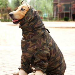 Waterproof camouflage hunting jacket for dogs