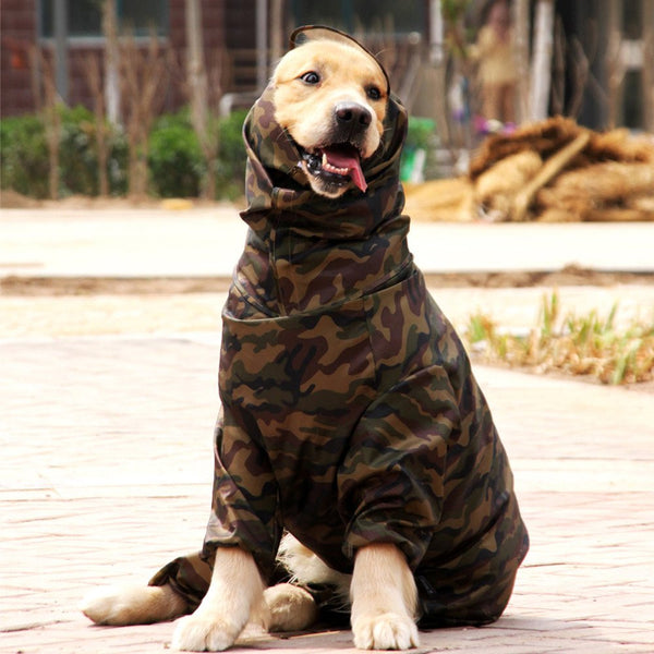 Waterproof camouflage hunting jacket for dogs Raincoats - DogTrunk