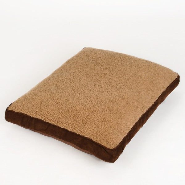 All Seasons Pet Suede Mattress Mat Dog Padded Pet Bolster Bed Cushion with Removable Designer Washable Cover Beds - DogTrunk