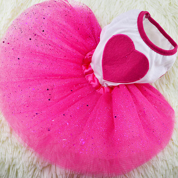 Heart Tutu Dog Dress  - DogTrunk