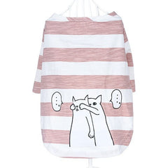Knitted Fabric Dog Pet Striped Lovely Clothes  T Shirt Summer Spring Pet Puppy Dog Apparel