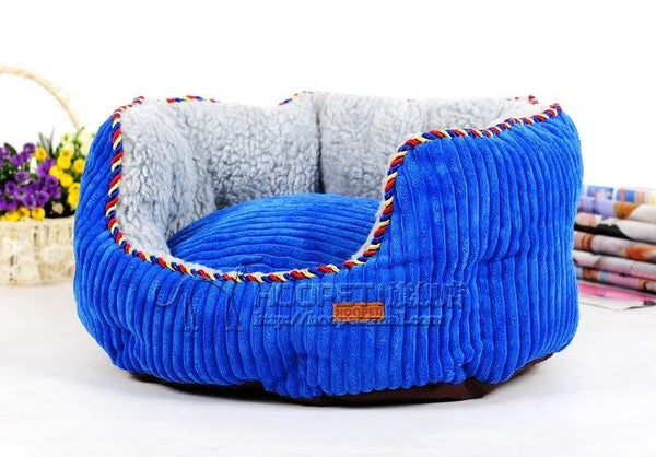 Corduroy bolster sofa pet dog bed with removable cover cushion Beds - DogTrunk