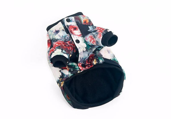 Colorful retro printed dog jacket for small dogs Coats - DogTrunk