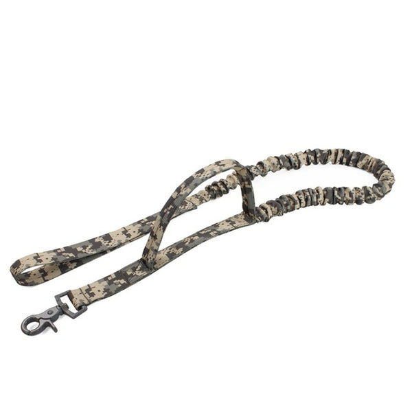 Waterproof Quick Release Army Tactical Dog Leash Nylon Military Elastic Bungee Belt Training leash For Medium Large Dog Training Leashes - DogTrunk