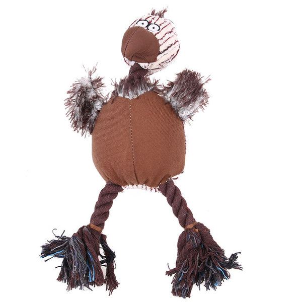 Corduroy turkey fabric dog toys Rope Toys - DogTrunk