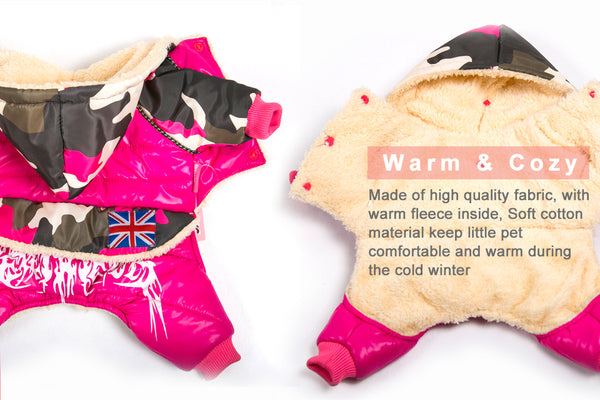 Warm Camouflage Dog Jacket Winter Waterproof Pet Dog Clothes Fashion for Chihuahua Small Large Dogs XL Coats - DogTrunk