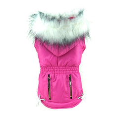 Uptown Dog Jacket with Furry Hood