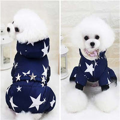 Star Power Dog Winter Coat Jumpsuit