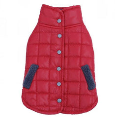 Warm Dog Vest with Collar- Reversible