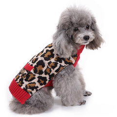 Leopard Print Doggie Sweater