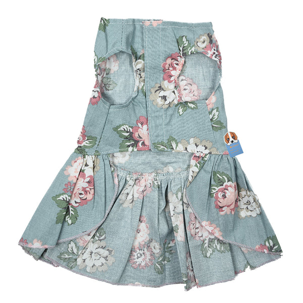 Flouncy Floral Summer Frock for Dogs  - DogTrunk