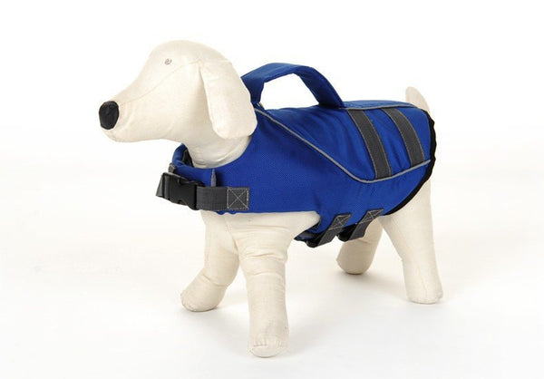 Small Dog life jacket safety vest in blue and yellow Safety Gear - DogTrunk