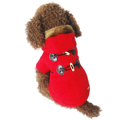 Korean Horn Button Style Dog Coat