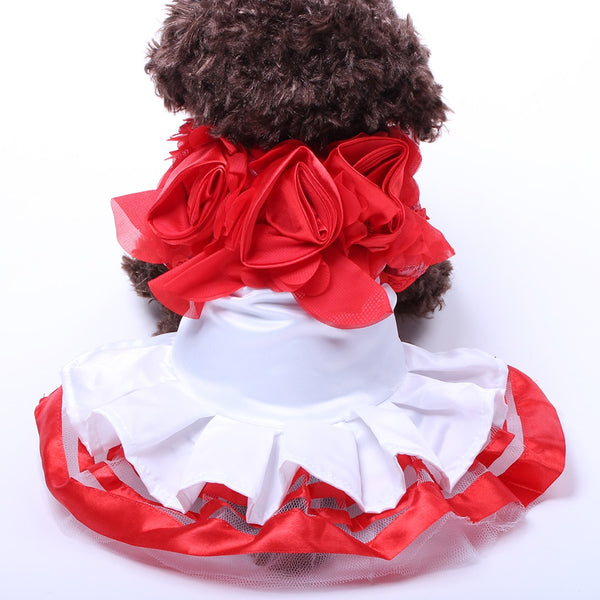 Ruffled Party Dress for Dogs  - DogTrunk