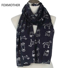 Dog Lovers Print Ladies Scarf