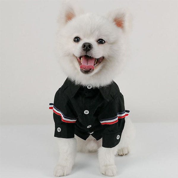 Dressy Button-Up Dog Shirt  - DogTrunk