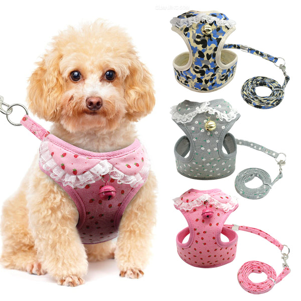 Lacey Soft Doggy Vest Harness & Leash Set Harness - DogTrunk