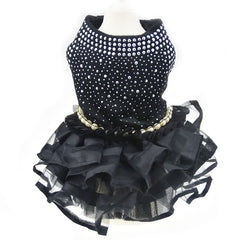 Pearl and Tulle Party Dress for Dogs