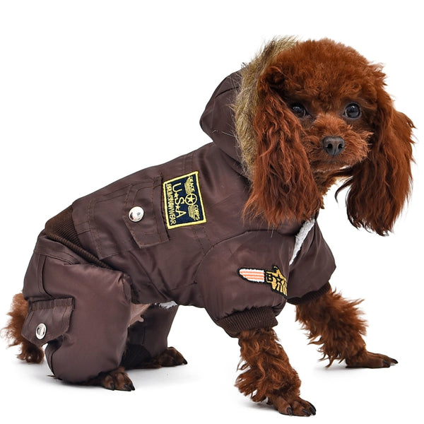 USA Air Force Winter Parka for Big Dogs Coats - DogTrunk