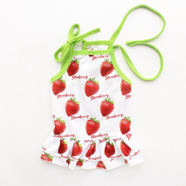 Summer Lovers Vests Dog Dresses Strawberry Pattern Vest For Dogs Dress 6071085 Pet Clothing Supplies XS S M L XL  - DogTrunk