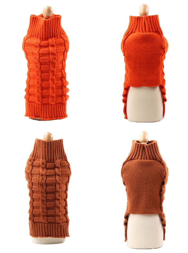 Kayla's Knit Turtleneck Dog Sweater in 8 Colors Sweaters - DogTrunk