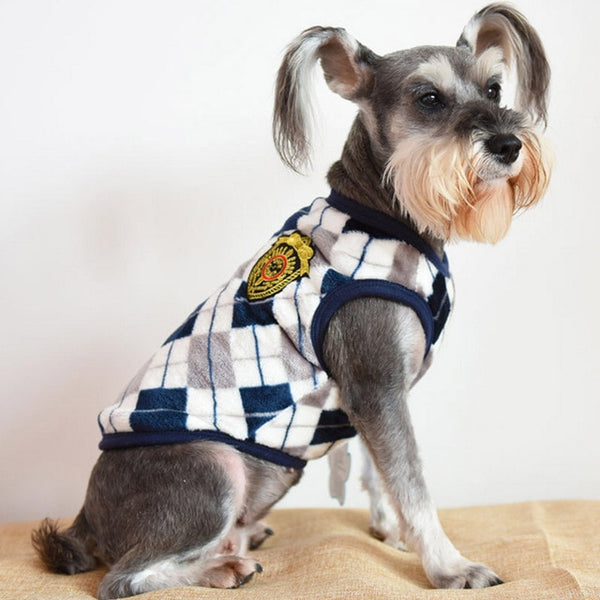 Classic Argyle Sweater Vest for Dogs Sweaters - DogTrunk