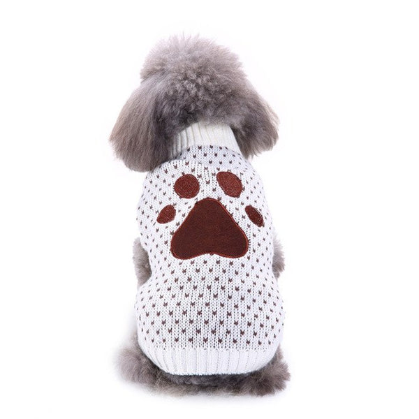 Pawprint Winter Sweater Sweaters - DogTrunk