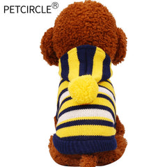 Striped Hoodie Dog Sweater