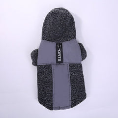 Sports Hoodie Lambswool Dog Jacket