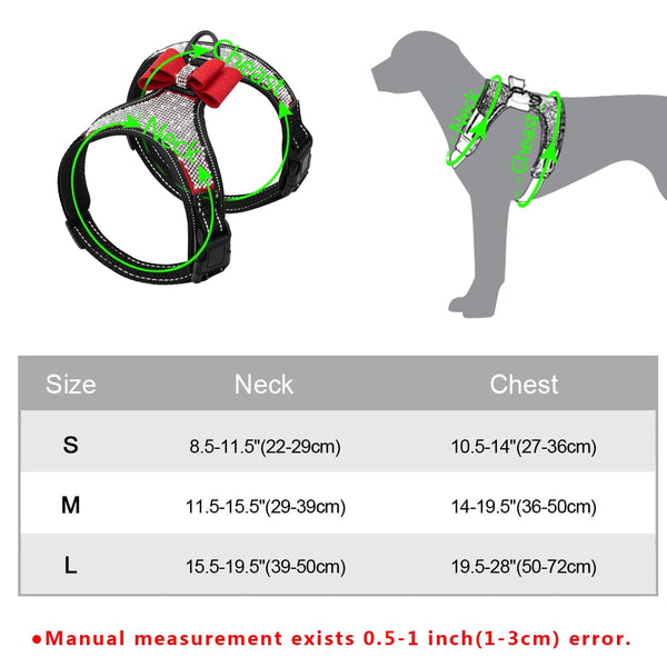 Rhinestone Covered Dog Harness  - DogTrunk