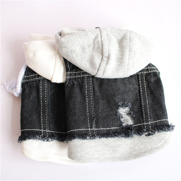 Urban Hooded Sweatshirt/Jean Jacket for Dogs  - DogTrunk
