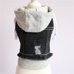 Urban Hooded Sweatshirt/Jean Jacket for Dogs