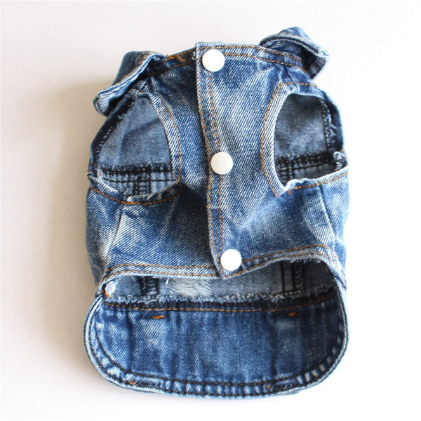 Distressed Jean Jacket for Dogs  - DogTrunk