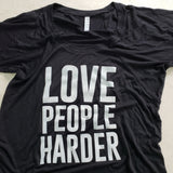 Love People Harder Flowy Raglan Shirt