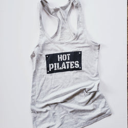 Hot Pilates Fitted Racerback Tank Top