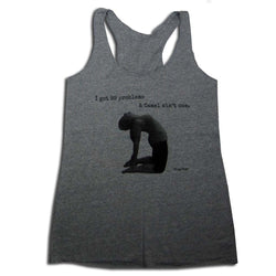 I got 99 problems, and Camel ain't one Women's Racerback Tank Top, Heather Grey