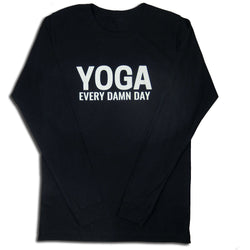 Yoga Every Day Long Sleeve Shirt Unisex, Black