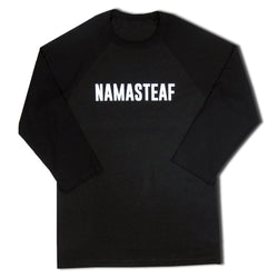 NamasteAF Baseball 3/4 Sleeve Shirt Unisex, Black