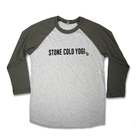 Stone Cold Yogi Baseball Shirt 3/4 Sleeve Unizex, heather Grey