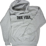 Thug Yoga Sweatshirt Hoodie Unisex, Heather grey